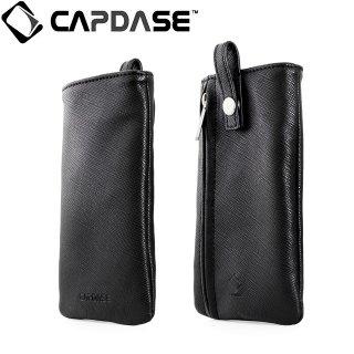 【ネックストラップ付きケース】 CAPDASE スマートフォン汎用ケース Novo Pocket with Lanyard Black