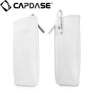 【ネックストラップ付きケース】 CAPDASE スマートフォン汎用ケース Novo Pocket with Lanyard White