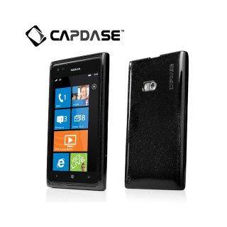 【ラメ入りソフトケース】 CAPDASE Nokia Lumia 900 Soft Jacket 2 XPOSE Sparko  Solid Black