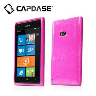 【ラメ入りソフトケース】 CAPDASE Nokia Lumia 900 Soft Jacket 2 XPOSE Sparko  Solid Fuchsia