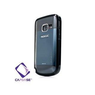 【2種の素材を使ったケース】 CAPDASE Nokia C3 Soft Jacket Fuze  クリアー/ソリッド・ブラック