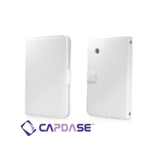 【スタンド機能付きケース】 CAPDASE HTC Flyer Protective Case Flip Jacket  White