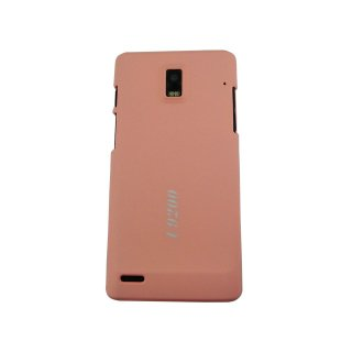 【シンプルなハードケース】 GauGau EMOBILE GS03 Rubberized Hard Rear Cover  Light Pink