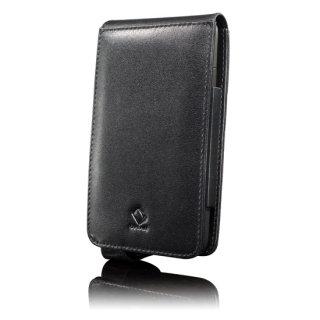 CAPDASE HTC HD2 Flip-top (縦開き) レザーケース (牛革) 黒