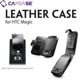 CAPDASE Flip-top (たて開き) レザーケース (牛革) 黒 docomo HT-03A/HTC Magic Google G2 用
