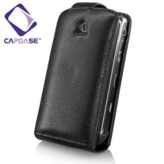 CAPDASE HTC Tattoo Flip-top (縦開き) レザーケース (牛革)