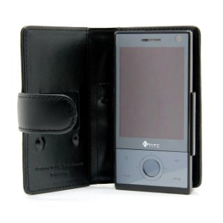 CAPDASE docomo HT-02A/Softbank X04HT/HTC Touch Diamond P3700 Bi-fold (横開き) レザーケース (牛革)