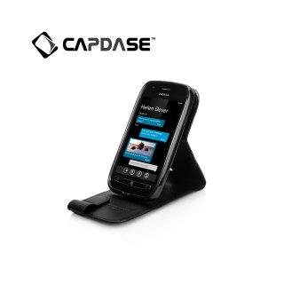 【スタンド機能付き縦開き型ケース】CAPDASE Nokia Lumia 710 Flip-Top  Black