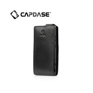 【スタンド機能付き縦開き型ケース】CAPDASE Nokia Lumia 800 Flip-Top  Black