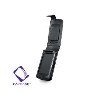 CAPDASE Nokia C6-01 Flip-top (縦開き) レザーケース (牛革) 黒