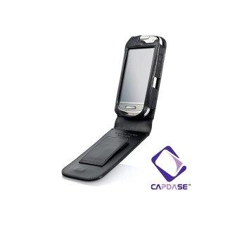 CAPDASE Nokia C7 Flip-top (縦開き) レザーケース (牛革) 黒