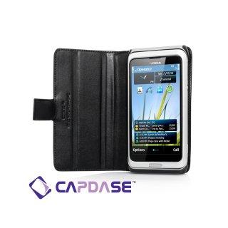 【スタンド機能付き手帳型ケース】 CAPDASE Nokia E7 Bi-Fold  Black