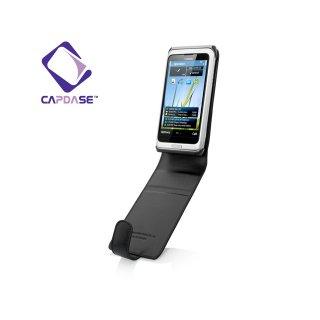 【スタンド機能付き縦開き型ケース】CAPDASE Nokia E7 Flip-Top  Black