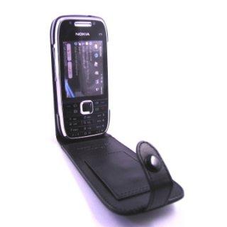 CAPDASE Nokia E75 Flip-top (縦開き) レザーケース (牛革) 黒