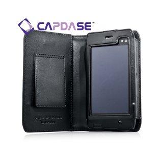 CAPDASE Nokia N8 Bi-fold (横開き) レザーケース (牛革) 黒