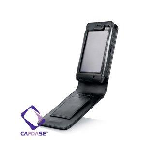 CAPDASE Nokia N8 Flip-top (縦開き) レザーケース (牛革) 黒
