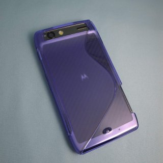 【シンプルなソフトケース】 GauGau au MOTOROLA RAZR IS12M Wave Soft Case  Clear Purple