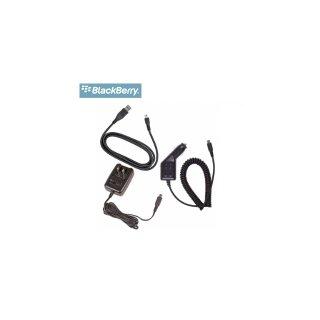 【純正充電器セット】 BlackBerry Bold Charging Bundle for miniUSB  Car Charger  AC Charger  Cable Set