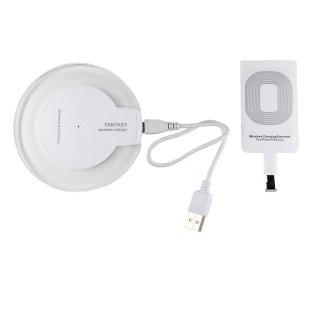 【iPhone7 対応 ワイヤレス充電器セット】 GauGau Wireless Charger for iPhone(Lightning) Set  White