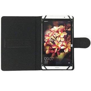 【スタンド機能付き横開き型ケース】 ahha 8インチタブレット対応 汎用ケース MAX  Stealth Black