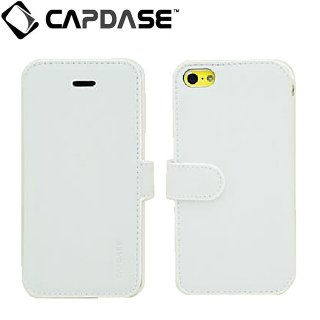 【スタンド機能付き手帳型ケース】 CAPDASE iPhone 5c 用 Folder Case Sider Classic  White