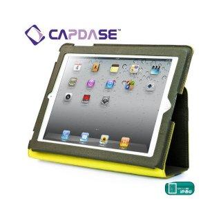 【キャンバス張りケース】 CAPDASE New iPad 2〜4世代 Folder Case Folio Canvas  Green / Yellow