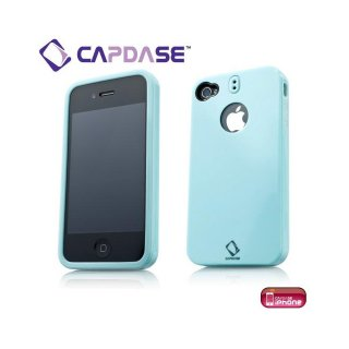 【ストラップホールつきケース】 CAPDASE iPhone 4 専用 Polimor Protective Case  Ice Blue