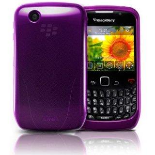 iSkin BlackBerry Curve 9300 Vibes 抗菌加工 ソフトケース パープル