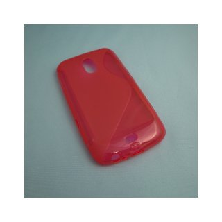 【シンプルなソフトケース】 GauGau docomo GALAXY NEXUS SC-04D Wave Soft Case  Clear Red