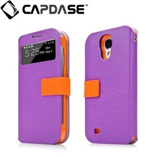 【磁力で合体するケース】 CAPDASE docomo GALAXY S4 SC-04E Sider ID Belt: Purple/Orange