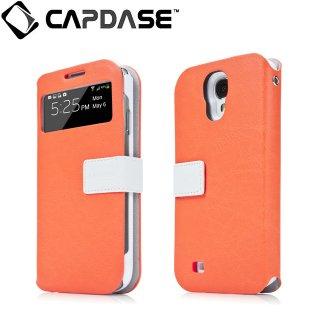 【磁力で合体するケース】 CAPDASE docomo GALAXY S4 SC-04E Sider ID Belt: Orange/White