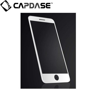 【iPhone7 フィルム 液晶面の端まで保護するガラス】 CAPDASE iPhone7 3D Full Glass  Clear/White