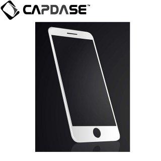 【iPhone7 フィルム 液晶面の端まで保護するフレーム一体型】 CAPDASE iPhone7 3D Hybrid Glass  Clear/White