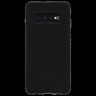 Galaxy S10 ハード スマホ ケース カバーTough Grip [ワイヤレス充電対応ケース 耐衝撃 頑丈 握りやすいグッドデザイン]  Black