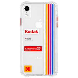 【Case-Mate×Kodak コラボレーション】  iPhone XR Case Kodak Striped Kodachrome Super 8