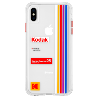 【Case-Mate×Kodak コラボ】  iPhone Xs Max Case Kodak Striped Kodachrome Super 8