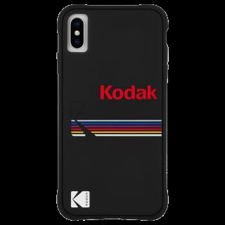 【Case-Mate×Kodak コラボ】  iPhone Xs Max Case Kodak Matte Black + Shiny Black Logo