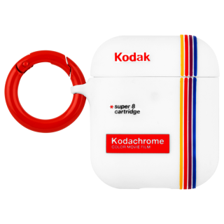 【Case-Mate×KODAK・AirPods 第1世代・第2世代・ワイヤレス充電OK】 KODAK Striped Kodachrome Super8 Print Case for AirPods