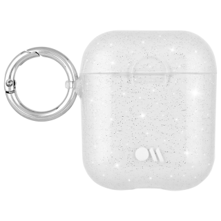【AirPods全機種対応・ワイレス充電もOK・ネックストラップ付】  AirPods Case Hook Ups Silicone Sheer Crystal Clear