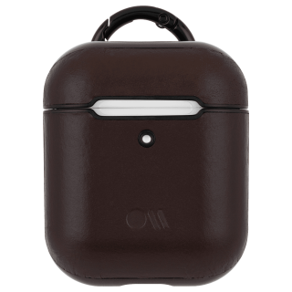 【AirPods全機種対応・ワイレス充電もOK・ネックストラップ付】  AirPods Case Hook Ups Leather Brown Leather