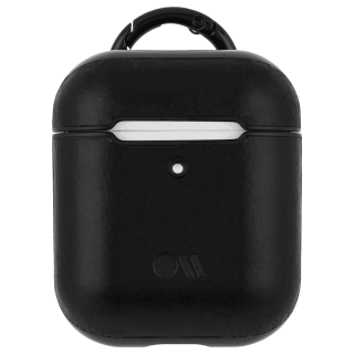 【AirPods 第1世代・第2世代・ワイヤレス充電もOK・ネックストラップ付】 AirPods Case Hook Ups Leather Black Leather