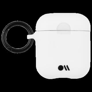 【AirPods全機種対応・ワイヤレス充電もOK・ネックストラップ付】  AirPods Case Hook Ups Silicone White