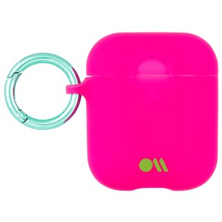 【AirPods 第1世代・第2世代・ワイヤレス充電もOK・ネックストラップ付】 AirPods Case Hook Ups Silicone Dark Pink