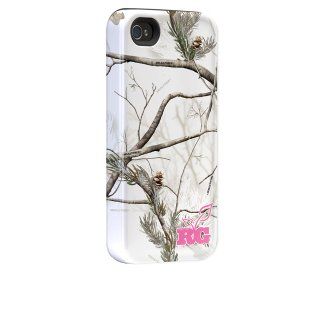 【衝撃に強いデザインケース】 iPhone 4S / 4 Hybrid Tough Case, Real Tree Camo APS Snow