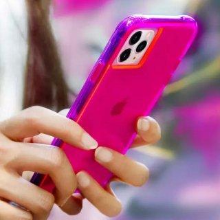 <img class='new_mark_img1' src='https://img.shop-pro.jp/img/new/icons1.gif' style='border:none;display:inline;margin:0px;padding:0px;width:auto;' />【ワールドワイドで大人気のネオンカラー】 iPhone 11 / 11 Pro / 11 Pro Max Case Tough NEON - Pink/Purple