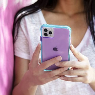 <img class='new_mark_img1' src='https://img.shop-pro.jp/img/new/icons1.gif' style='border:none;display:inline;margin:0px;padding:0px;width:auto;' />【ワールドワイドで大人気のネオンカラー】 iPhone 11 / 11 Pro / 11 Pro Max Case Tough NEON - Purple/Turquoise