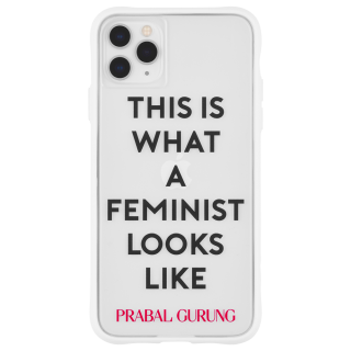 <img class='new_mark_img1' src='https://img.shop-pro.jp/img/new/icons1.gif' style='border:none;display:inline;margin:0px;padding:0px;width:auto;' />【世界のセレブが認めるデザイナー作品】PRABAL GURUNG iPhone 11 / 11 Pro / 11 Pro Max Case Tough Feminist - White