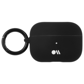 【AirPods Pro ケース・ワイヤレス充電OK】 AirPods Pro Case Black w/Black Circular Ring