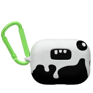 【AirPods Pro ケース・ワイヤレス充電OK】 AirPods Pro CreaturePods Ozzy Case w/ Green Carabiner Clip