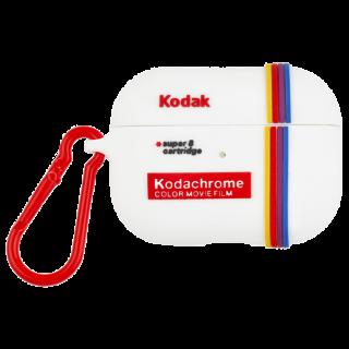【コラボ・AirPods Pro ケース・ワイヤレス充電OK】 AirPods Pro Kodak White with Kodachrome Stripes w/Red Carabiner Clip